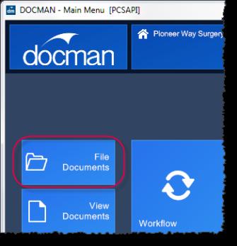 Scanning into Docman